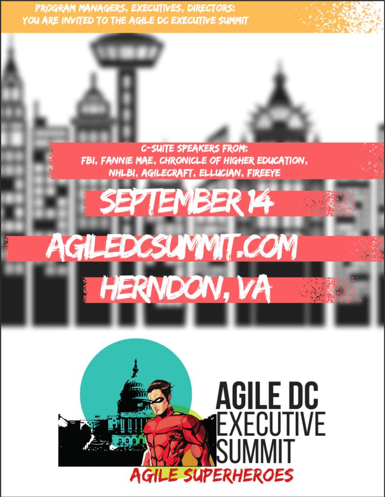 Agile DC Exec summit flyer